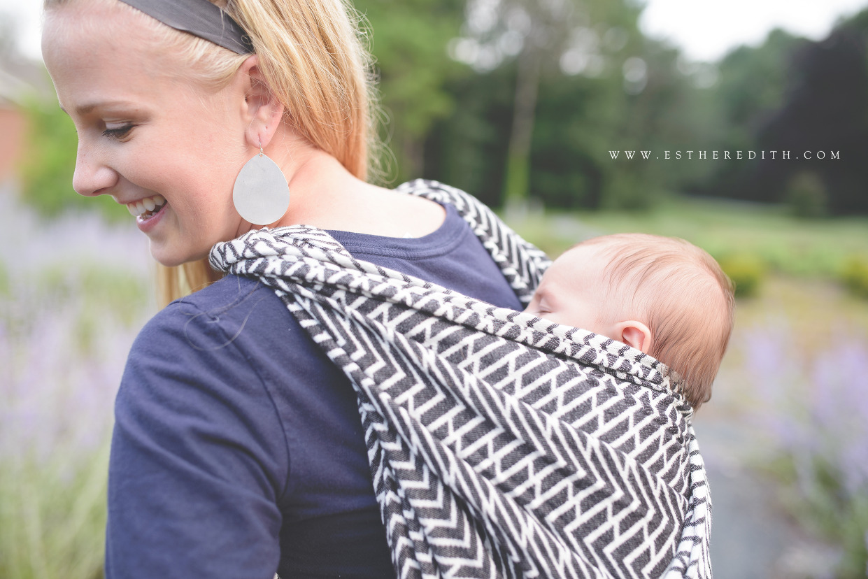 Esther Edith Babywearing Photographer, Risaroo Wovens Pinnacle Ink