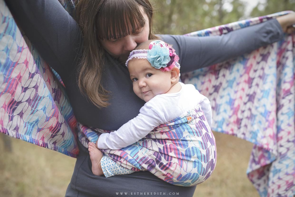 Babywearing Photography, Spokane photographers, babywearing photos, tekhni woven wrap laurel taffy