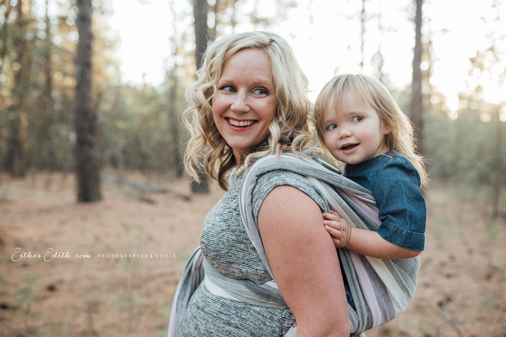 Maternity Babywearing Photography Spokane, Maternity photography Coeur d