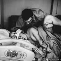 International Association of Birth Photographers 2017 competition, labor birth photography, hospital birth, peaceful birth photo, husband and wife birth photography