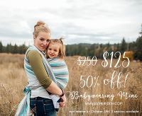 Spokane mini sessions, babywearing photography, babywearing photographers