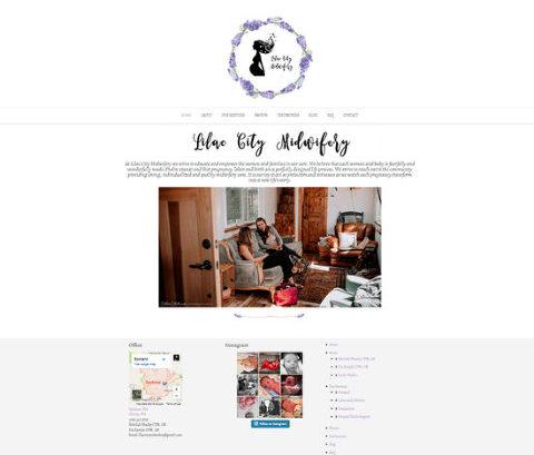 website design spokane, water color minimalistic website design, simple website design, best website designs, home birth miwdives website design