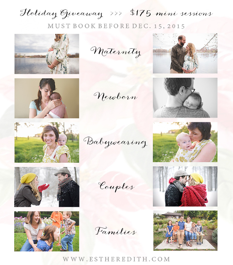 Photography discount Spokane, Maternity discounted photography, newborn photography spokane, babywearing photos, couples photography session